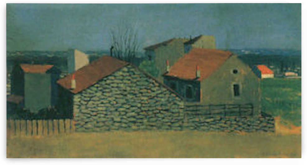 Houses in Puteaux by Felix Vallotton by Felix Vallotton