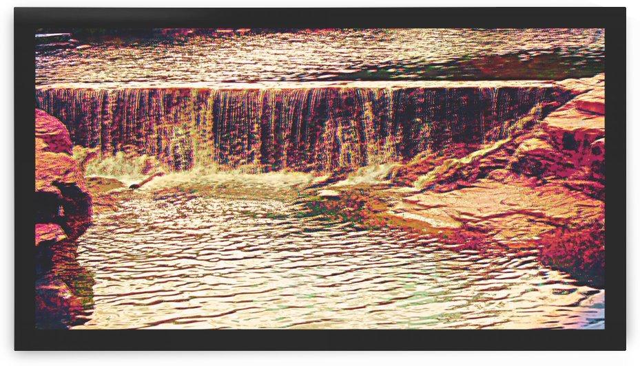 Medicine Park waterfall pic art by Chazzi R  Davis