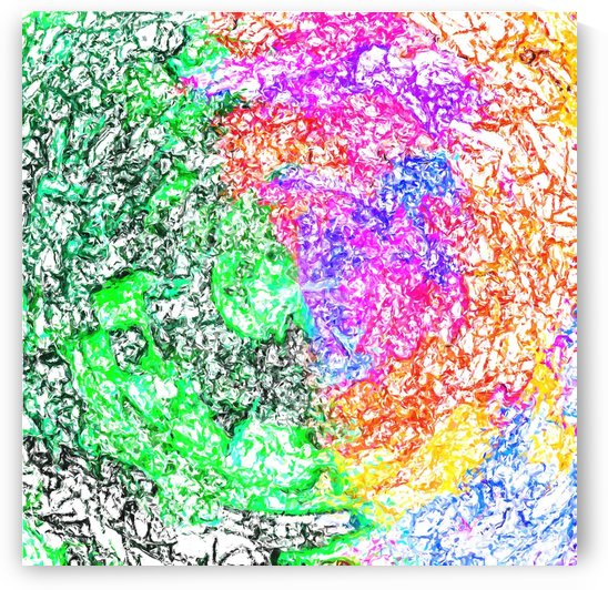 psychedelic splash painting abstract in pink purple green blue orange and yellow by TimmyLA