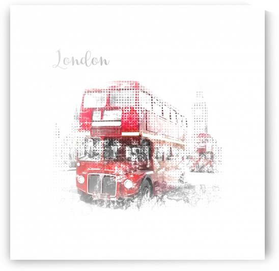 Graphic Art LONDON WESTMINSTER Street Scene by Melanie Viola