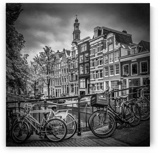 AMSTERDAM Flower Canal black & white by Melanie Viola