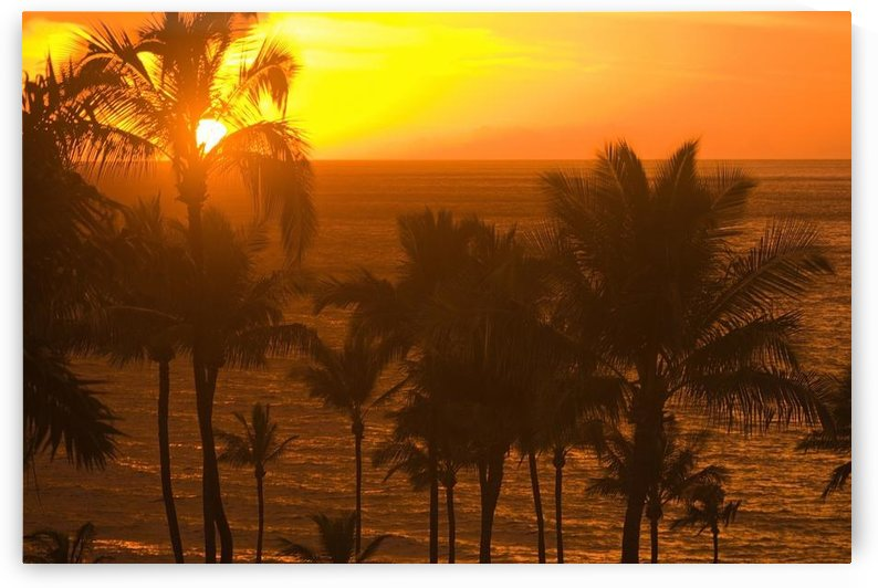 Sunset On Beach, Wailea, Hawaii by PacificStock