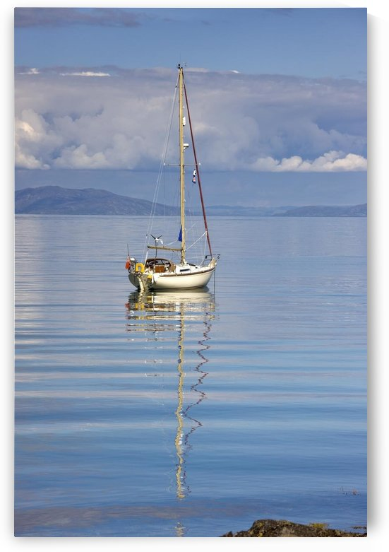 Isle Of Colonsay, Scotland; Sailboat On The Ocean by PacificStock