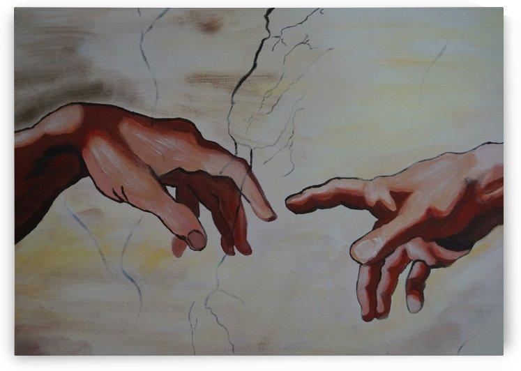 Michelangelo hands by Babetts Bildergalerie