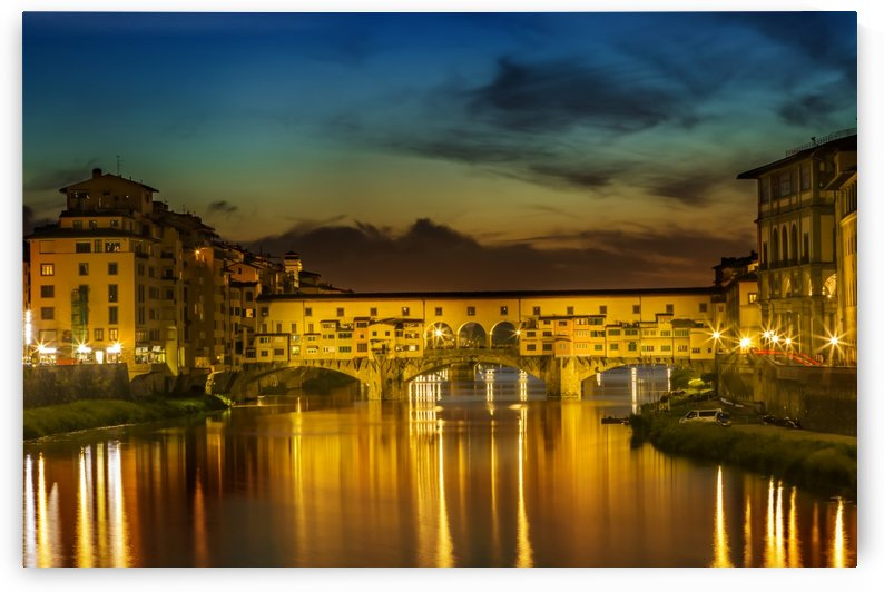 FLORENCE Ponte Vecchio at Sunset by Melanie Viola