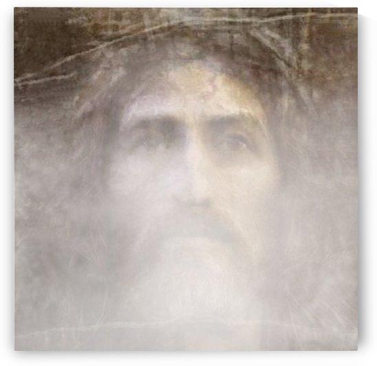 Christ face hidden in fog by ArtofCaelia