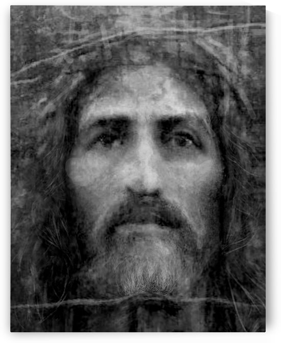 Christ face reconstruction black and white by ArtofCaelia