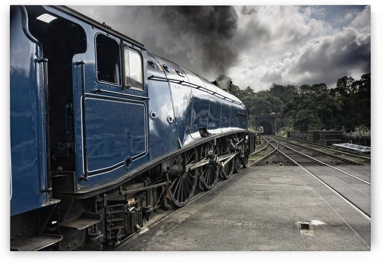 Sir Nigel Gresley Train At Grosmont; North Yorkshire, England by PacificStock