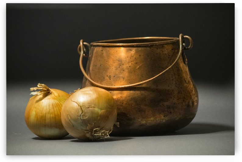 Copper Pot and Onions by Frank Wilson