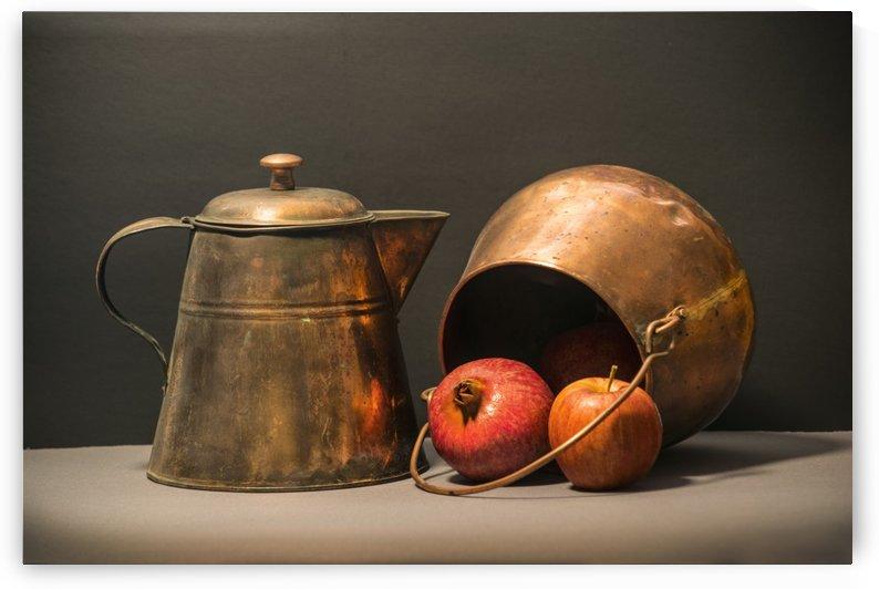 Copper Pots Pomegranate Apple by Frank Wilson
