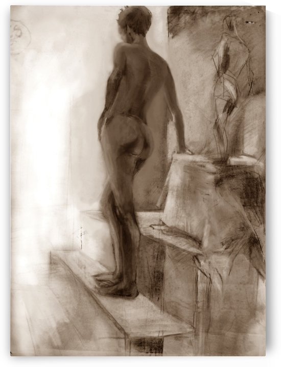 Act study - charcoal drawing by ArtofCaelia