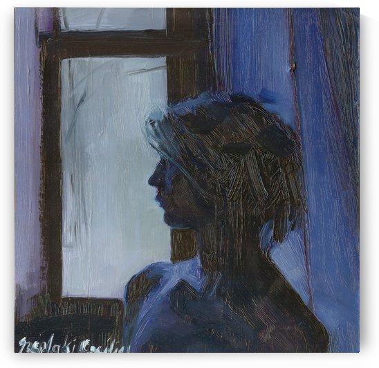 Girl in blue  by ArtofCaelia