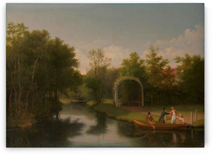 Arbour in the park of Sanderumgard manor by Christoffer Wilhelm Eckersberg