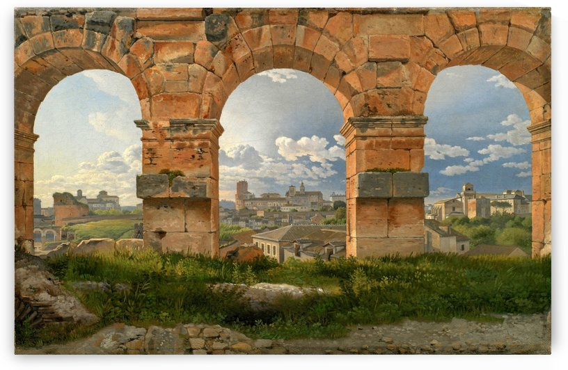 A View through Three of the North-Western Arches of the Third Storey of the Coliseum in Rome, 1815 by Christoffer Wilhelm Eckersberg