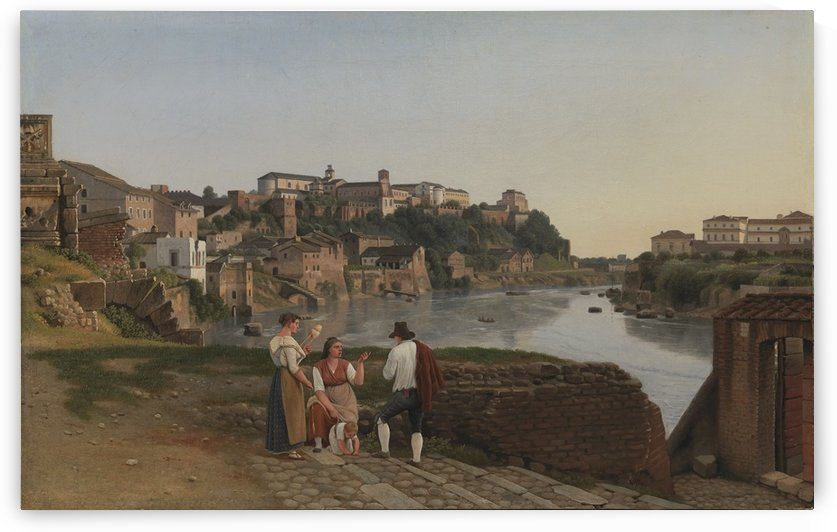 View of the Tiber near Ponte Rotto by Christoffer Wilhelm Eckersberg