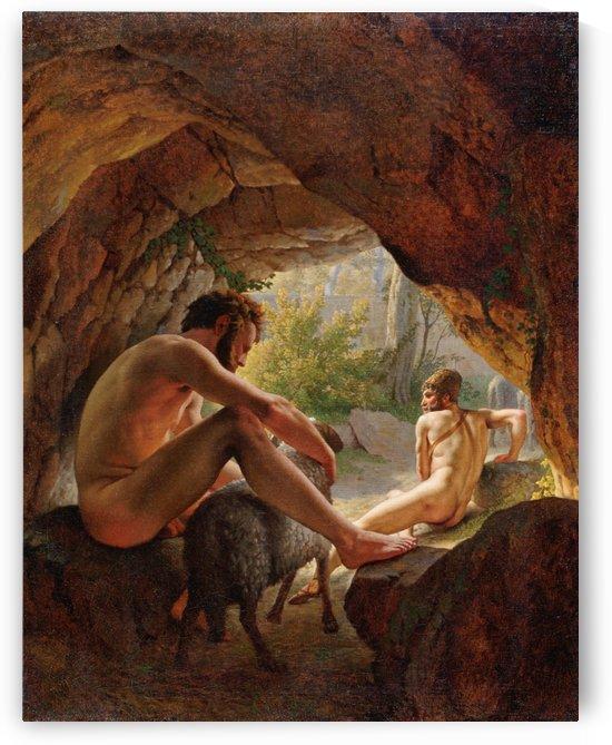 Odysseus flygter fra Polyfem by Christoffer Wilhelm Eckersberg