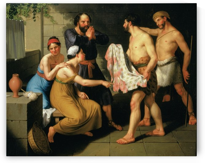Joseph's brothers bring his coat to Jacob by Christoffer Wilhelm Eckersberg