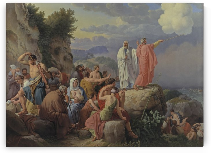 Israelites resting after the crossing of the Red Sea, 1815 by Christoffer Wilhelm Eckersberg