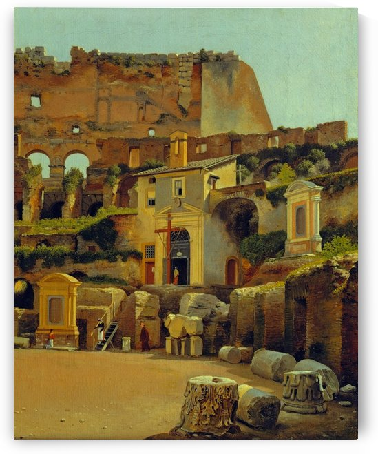 Interior of the Colosseum in Rome by Christoffer Wilhelm Eckersberg