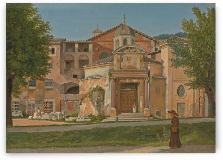 A Section of the Via Sacra, Rome by Christoffer Wilhelm Eckersberg