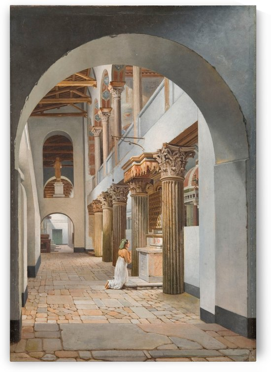 View of the Church of San Lorenzo fuori le Mura by Christoffer Wilhelm Eckersberg