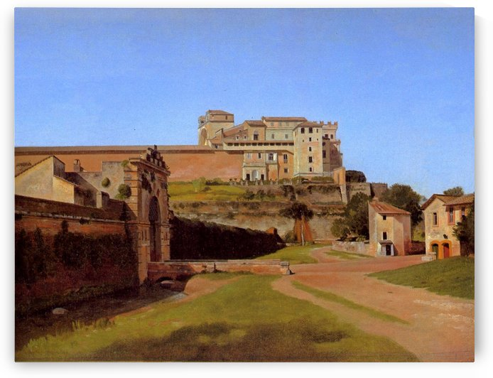 Rome, Porta Angelica and part of the Vatican, 1813 by Christoffer Wilhelm Eckersberg