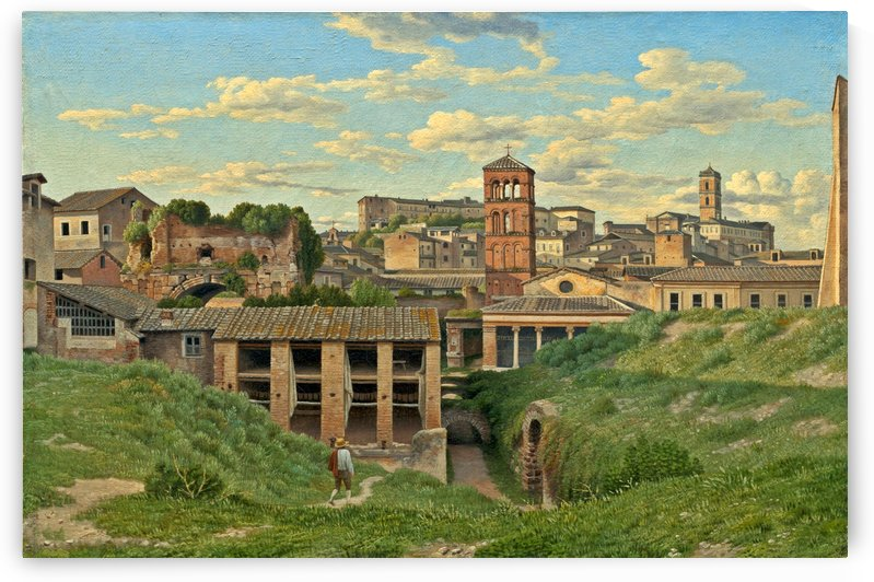 View of the Cloaca Maxima, Rome by Christoffer Wilhelm Eckersberg