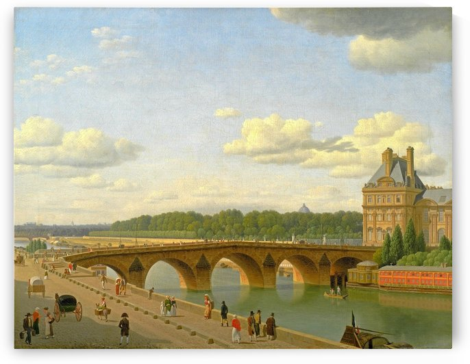 View at Pont Royal from Voltaire Quai in Paris by Christoffer Wilhelm Eckersberg