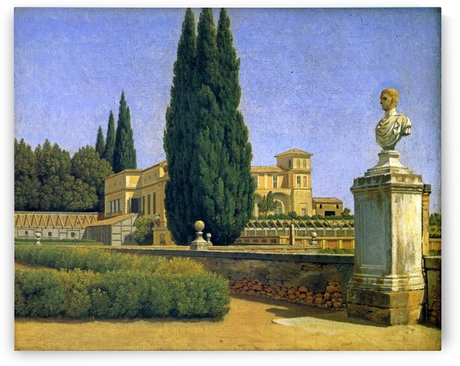 In the Gardens of the Villa Albani by Christoffer Wilhelm Eckersberg