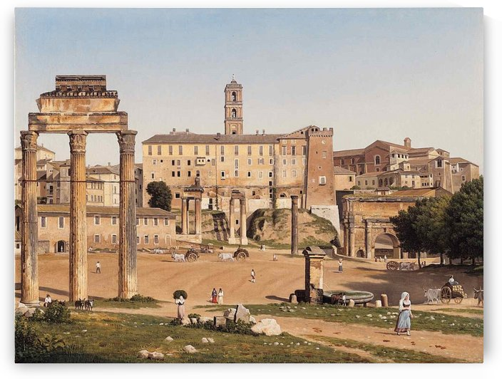 View of the Forum in Rome by Christoffer Wilhelm Eckersberg