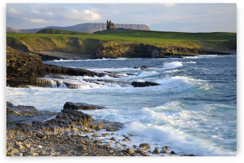 Classiebawn Castle, Mullaghmore, Co Sligo, Ireland; 19Th Century Castle With Ben Bulben In The Distance by PacificStock