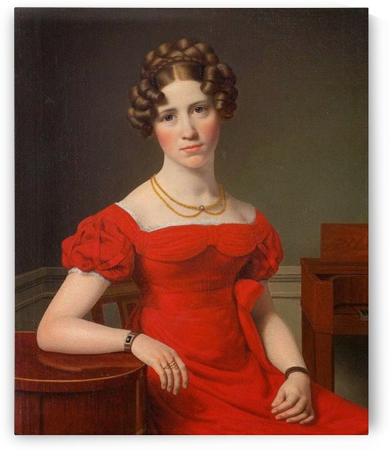Portrait of Louise Christiane Fugl by Christoffer Wilhelm Eckersberg