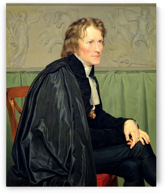 Portrait of Bertel Thorvaldsen by Christoffer Wilhelm Eckersberg