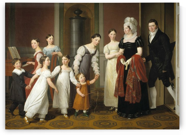The Nathanson Family by Christoffer Wilhelm Eckersberg