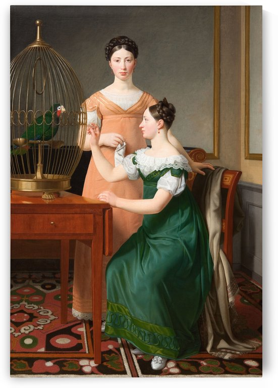 Bella and Hanna Nathanson by Christoffer Wilhelm Eckersberg