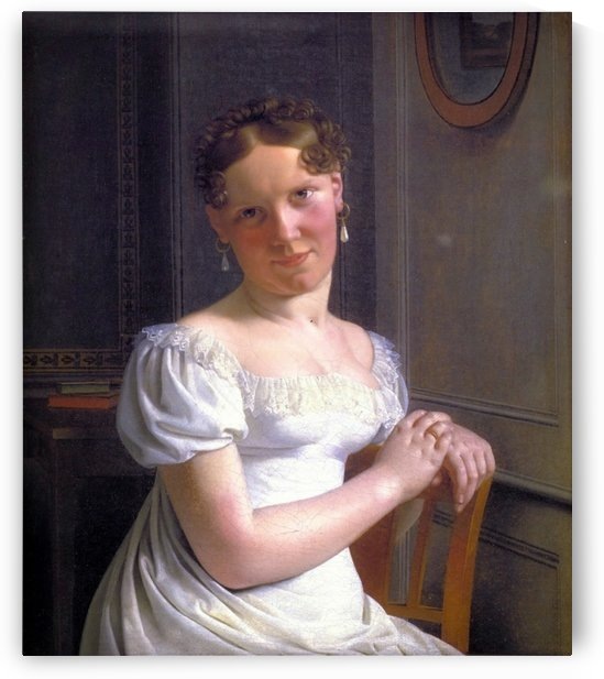 Portrait of Julie Eckersberg, the artist's second wife by Christoffer Wilhelm Eckersberg