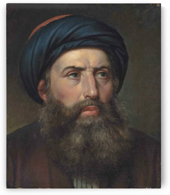 Portrait of a Greek man by Christoffer Wilhelm Eckersberg