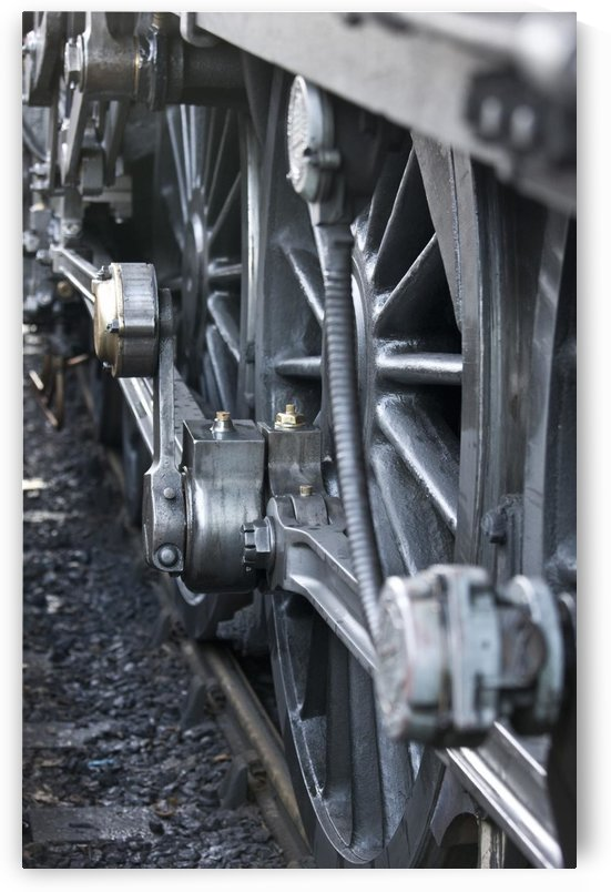Close-Up Of Steam Engine Train Wheel by PacificStock