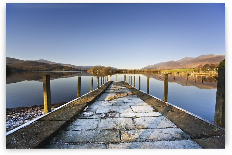 Dock In A Lake, Cumbria, England by PacificStock