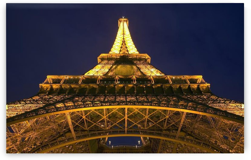 Eiffel Tower At Night; Paris, France by PacificStock