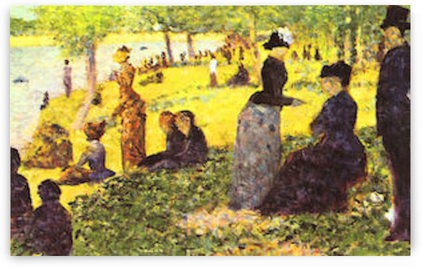 La Grande Jatte by excursionists by Seurat by Seurat