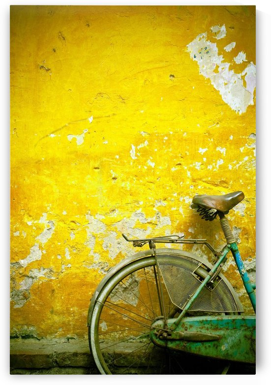 A Bike Leaning Against A Wall; Hanoi,Vietnam by PacificStock