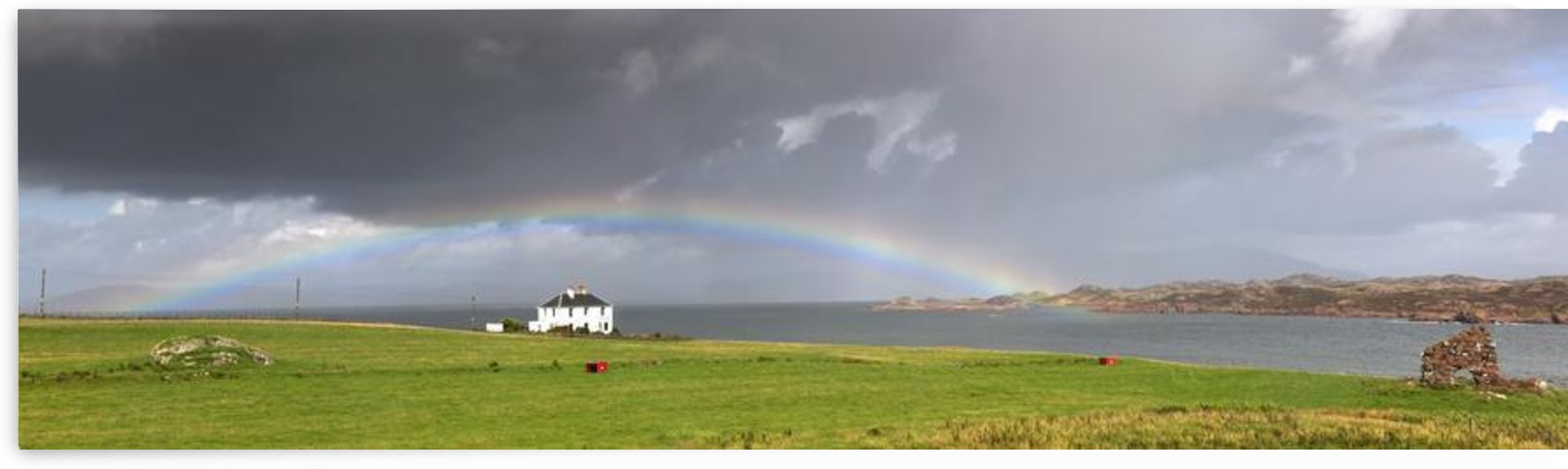 Rainbow, Island Of Iona, Scotland by PacificStock