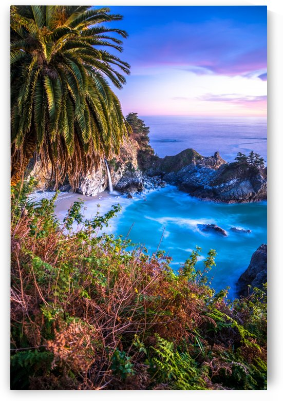 McWay Falls Sunset by Clare Kathleen Cornelius