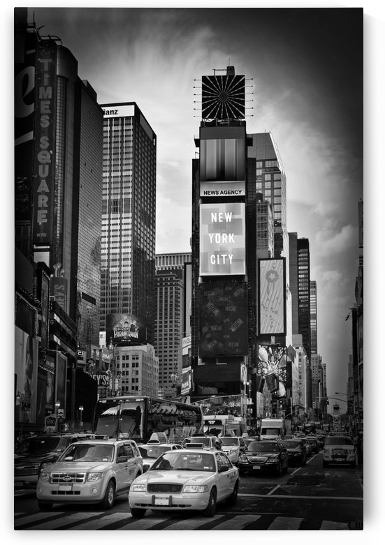 NEW YORK CITY Times Square | Monochrome by Melanie Viola