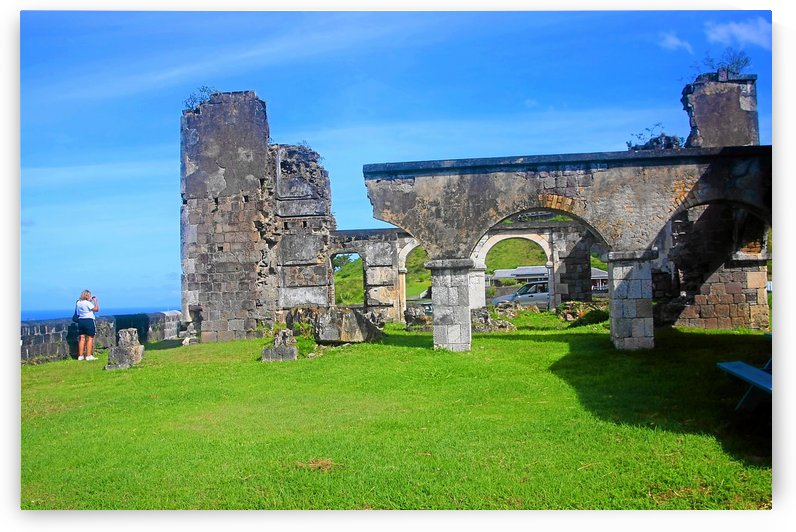 St Kitts Brimstone Hill Quarters by Keethton J France