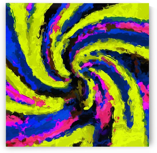 psychedelic graffiti watercolor painting abstract in blue pink and yellow by TimmyLA