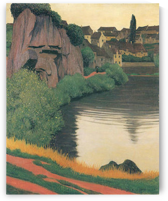 Landscape Semur by Felix Vallotton by Felix Vallotton
