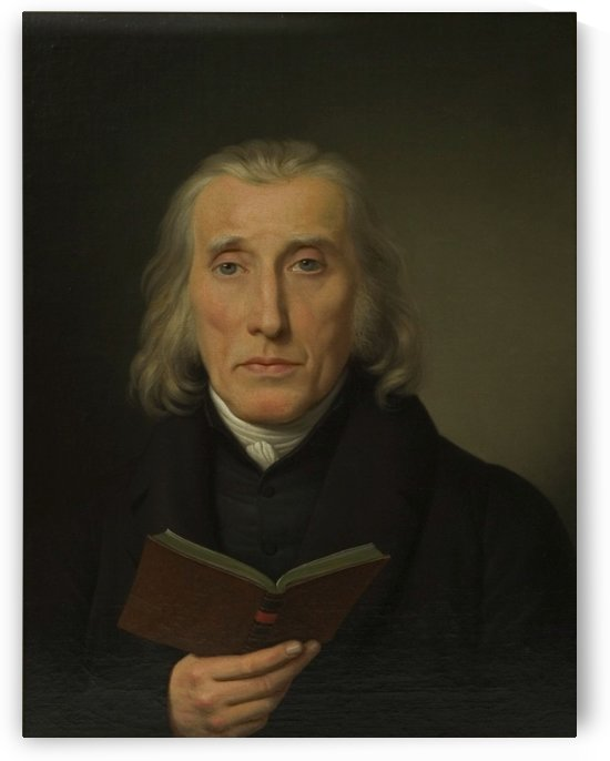 Portrait of Gedalia Moses by Christoffer Wilhelm Eckersberg