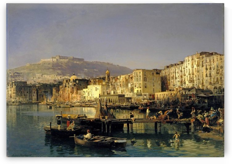 View of Naples with Castle Sant Elmo by Jules Ruinart de Brimont
